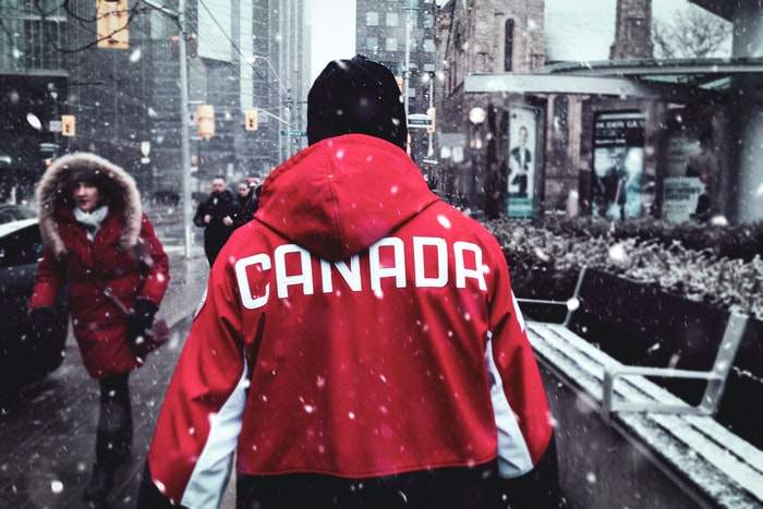 a man walking in Canada