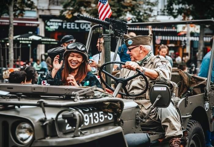 WW2 parade in USA