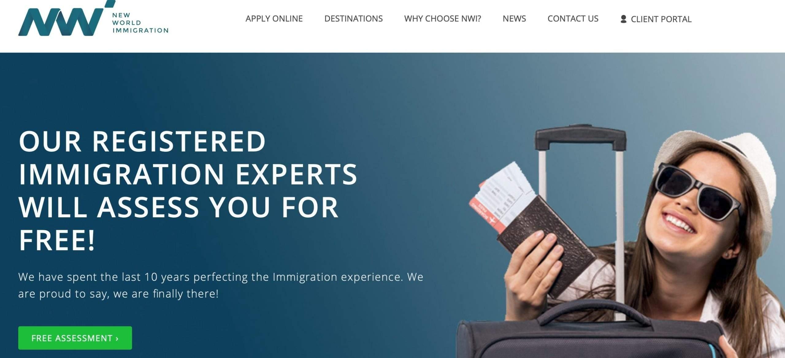 New World Immigration website